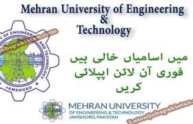 Jobs at Mehran University of Engineering and Technology Jamshoro 2020