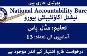 Jobs in National Accountability Bureau NAB Rawalpindi 2020