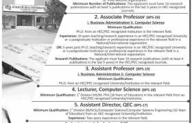 Jobs in Sukkur IBA University Kandhkot Campus 2020