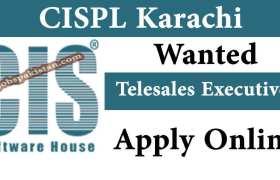 Telesales Executive Jobs at CISPL Karachi 2020