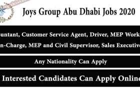 Jobs in Joys Group Abu Dhabi 2020