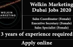 Jobs in Welkin Marketing Dubai 2020