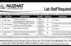 Nuzhat Lab Diagnostic Jobs 2020