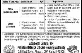 Defence Housing Authority DHA Karachi Jobs 2020