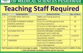 Ghazali Institute of Medical Sciences Peshawar Jobs 2020