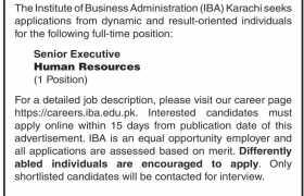 Institute of Business Administration Karachi Jobs 2020