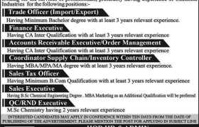 Power Chemical Industries Limited Faisalabad Jobs 2020