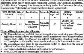 Faisalabad Garment City Company Jobs 2020