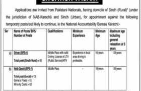 National Accountability Bureau NAB Karachi Jobs 2020