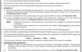 Sindh Public Services Commission (SPSC) Hyderabad Jobs 2020