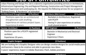 Urban Planning and Design Pvt Ltd Islamabad Jobs 2020