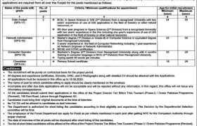 Punjab Forestry Wildlife & Fisheries Department Lahore Jobs 2020