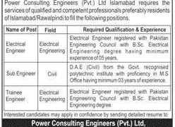 Power Consulting Engineers Pvt Ltd Jobs 2020