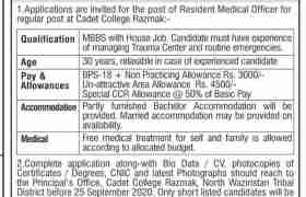 Cadet College Razamak Jobs 2020