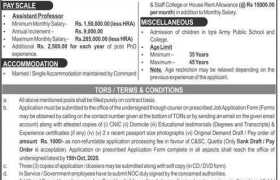 Command & Staff College Quetta Jobs 2020