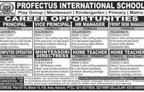 Profectus International School Jobs 2020