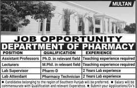 SPIHS Multan Jobs 2020