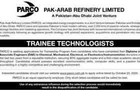 Pak-Arab Refinery Limited Jobs 2020