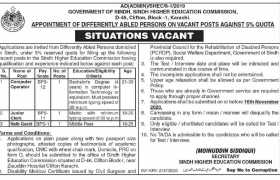 Sindh Higher Education Commission Jobs 2020