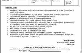 NAB Multan Jobs 2020