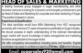 Sugar Manufacturing Group Jobs 2020