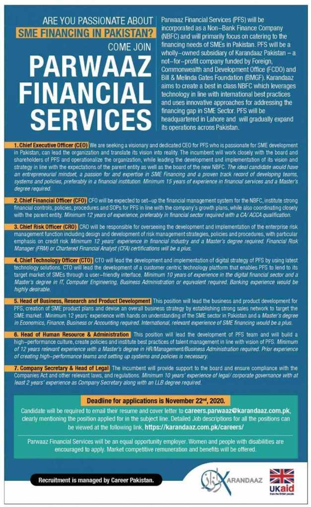 Parwaaz Financial Services Jobs 2020