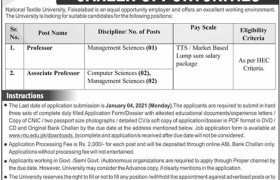 NTU Faisalabad Jobs 2021