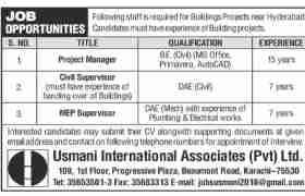 Usmani International Associates Jobs 2020