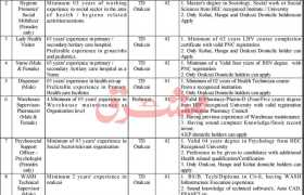 PRCS Tribal District Orakzai Jobs 2021