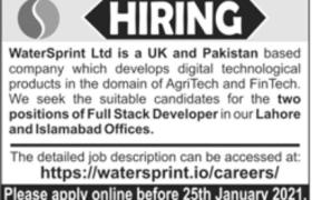 WaterSprint Ltd Jobs 2021