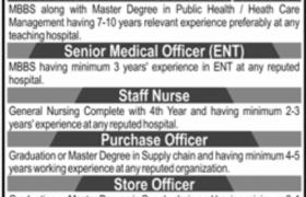 Arif Memorial Teaching Hospital Jobs 2021