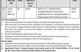 Kohat Wildlife Division Jobs 2021