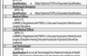 NSGBRM Hospital Mastung Jobs 2021