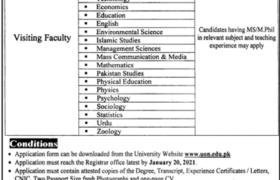 University of Narowal Jobs 2021