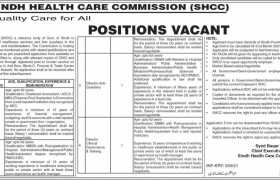 Sindh Healthcare Commission Jobs 2021