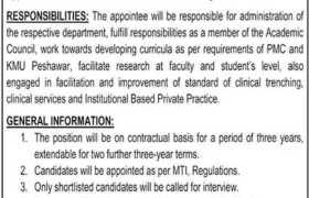 Ayub Medical College Abbottabad Jobs 2021