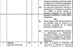Ghazi University Jobs 2021