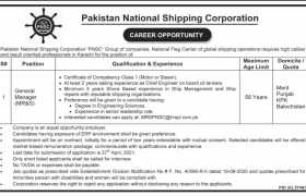 Jobs in Pakistan National Shipping Corporation 2021