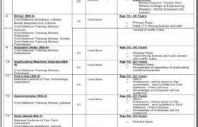 Jobs in Directorate General Civil Defence 2021