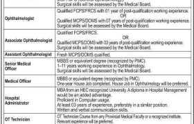 Jobs in LRBT Secondary Eye Hospital Multan 2021