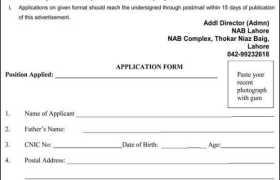Jobs in NAB Lahore 2021