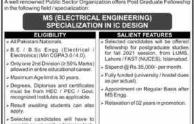 Post Graduate Fellowship Program 2021