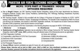 PAF Teaching Hospital Mushaf Jobs 2021
