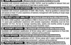 Islamabad Feeds Pvt Ltd Jobs 2021