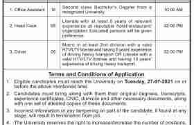 Shuhada-e-Army Public School University Jobs 2021