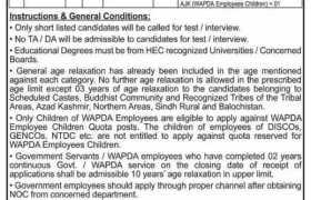 WAPDA Lahore Jobs 2021