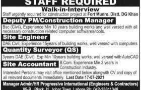 Progressive International Engineers Jobs 2021