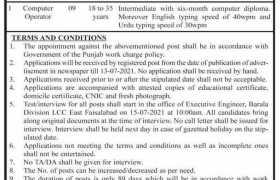 Irrigation Department Faisalabad Jobs 2021