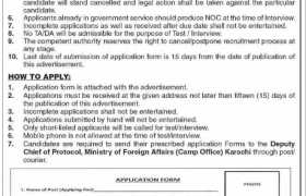 Jobs in Ministry of Foreign Affairs Karachi 2021
