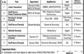 Al Khidmat Hospital Nazimabad Karachi Jobs 2021